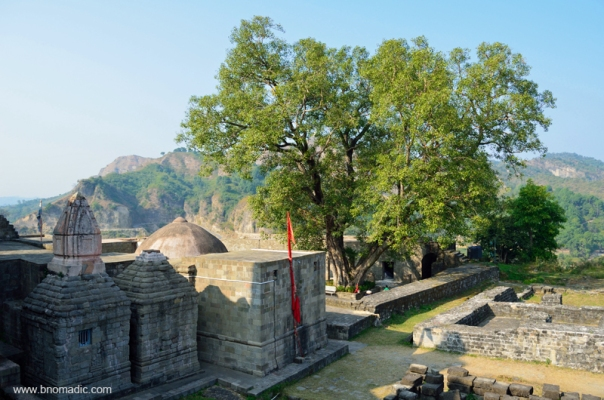 The Ambika Mata temple lies a little further to the north. The dome of this temple is obviously a later addition.