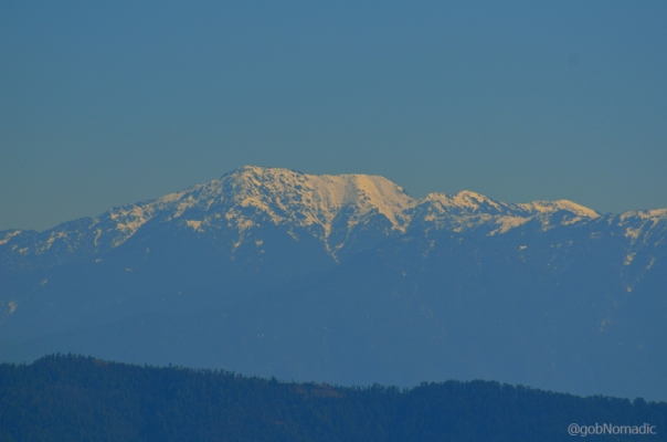 At 3647m, Churdhar (also referred to as Choor Chandani) is the highest peak in the outer Himalaya. Captured from a point in Shimla.