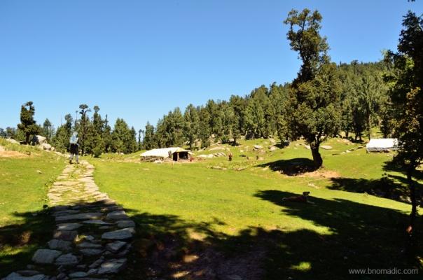 The doosri campsite, called Jamnala