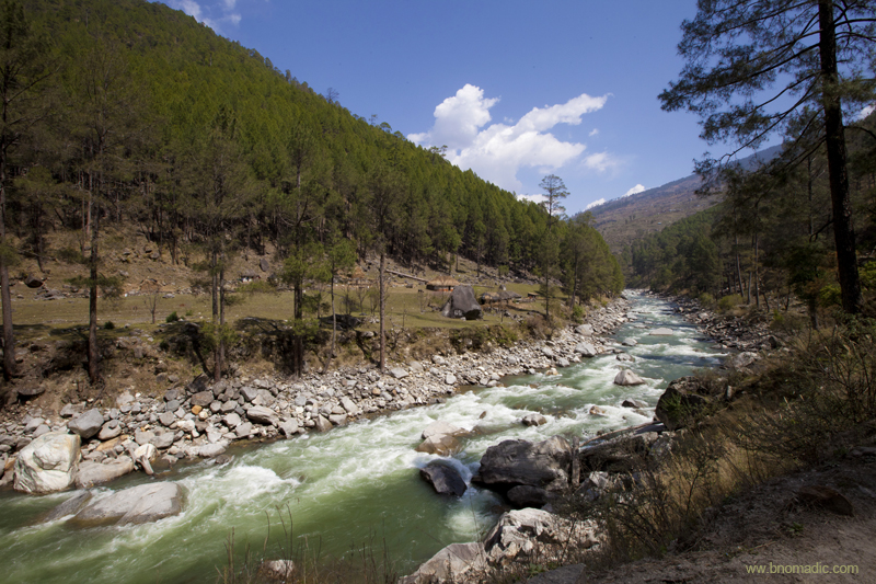 The Tons Valley; the Tons is the largest tributary of River Yamuna